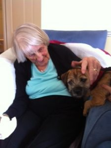 Peggy the resident meets Peggy the pooch