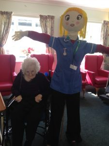 Ann with our Scarecrow Matilda